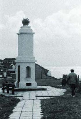 Prime Meridian monument at Peacehaven